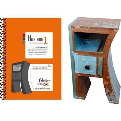 livret de formation cr er un chevet en carton hasiane de l 39 atelier chez soi. Black Bedroom Furniture Sets. Home Design Ideas