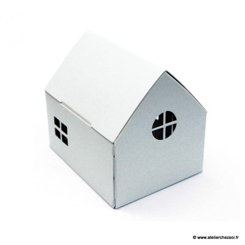 Veilleuse solaire maison blanche d corer casagami de l 39 atelier chez soi - Maison a decorer ...