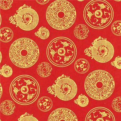 papier n palais jade rouge motif or 50x75 cm de l 39 atelier chez soi. Black Bedroom Furniture Sets. Home Design Ideas