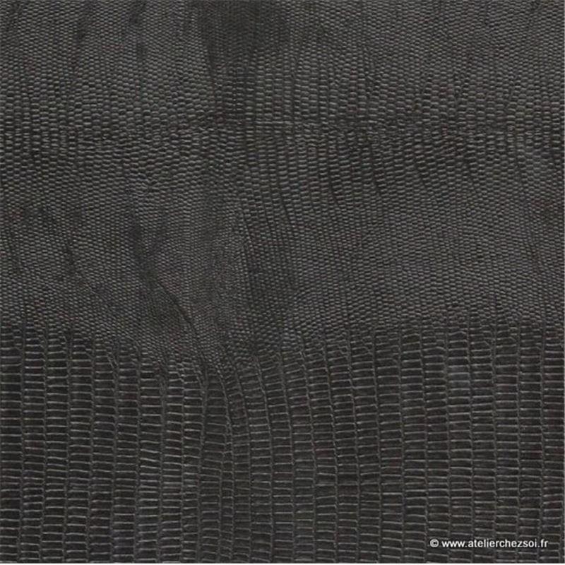 simili cuir effet l zard noir 70x100 cm de l 39 atelier chez soi. Black Bedroom Furniture Sets. Home Design Ideas