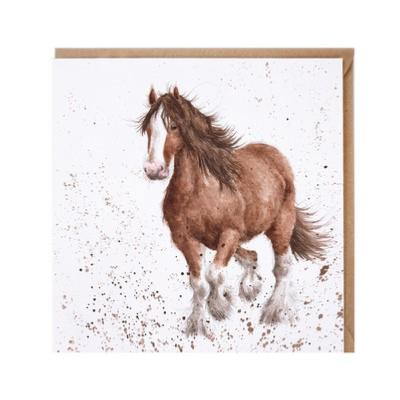 Carte double Cheval 15x15 cm Wrendale