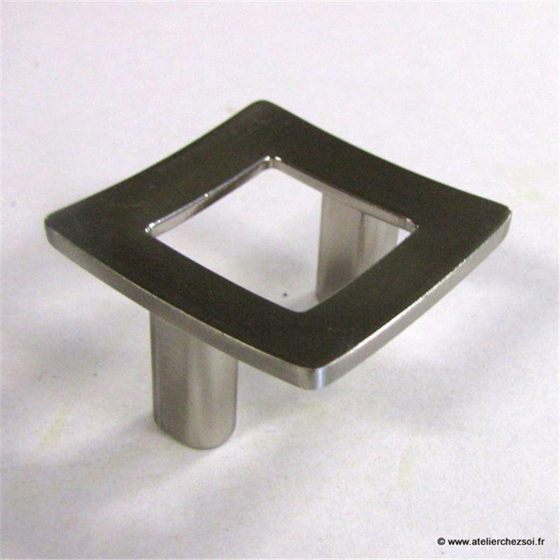 Bouton De Meuble Cadre Zamak Finition Inox 41mm De L