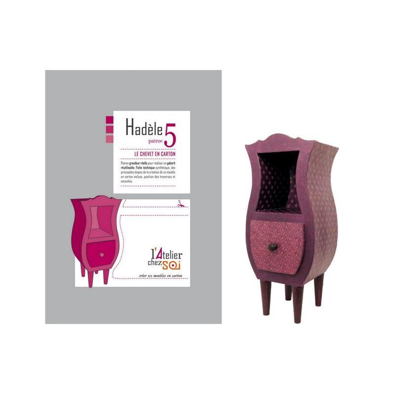 patron de meuble en carton chevet had le de l 39 atelier chez soi. Black Bedroom Furniture Sets. Home Design Ideas