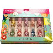 Vernis à Ongles 10 Flacons 2ml Kit Party Non toxique Suncoatgirl