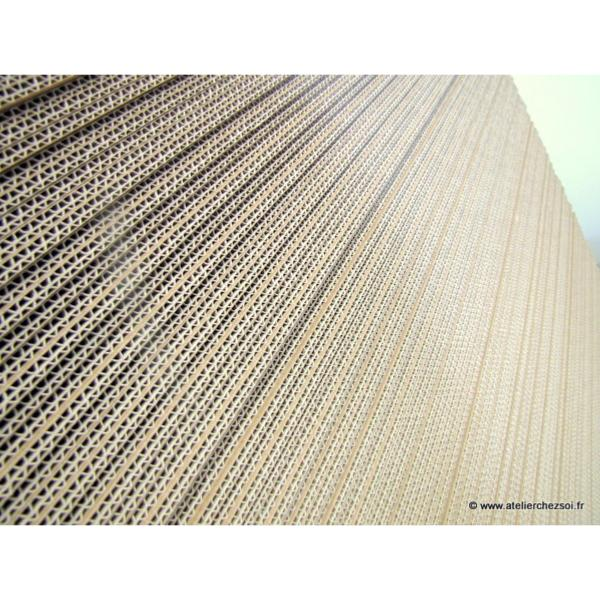 Plaque carton ondul double cannelure 100 x 100 cm lot de 10 plaques de l 39 atelier chez soi - Plaque de coffrage ...