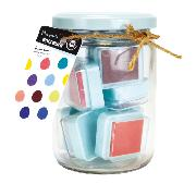 Encreurs 2,5x2,5 cm Bocal 10 Couleurs assorties