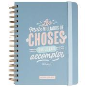Agenda 2018-2019 Semainier Mr Wonderful 17X21cm Les Mille Milliards de Choses