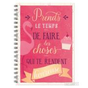 Carnet spirale A5 Prendre le temps de faire les choses Notebook