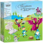 Coffret Tampons Chevaliers et Dragons 10 tampons 4 ans Crealign