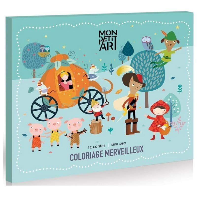 coffret coloriage merveilleux 12 tableaux sur 12 contes mon petit art