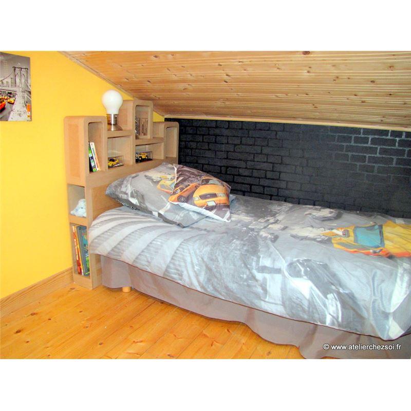 tete de lit 1 personne. Black Bedroom Furniture Sets. Home Design Ideas