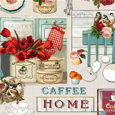 papier italien imprim cuisine 50x70 cm de l 39 atelier chez soi. Black Bedroom Furniture Sets. Home Design Ideas