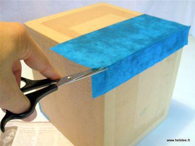 Bo te en carton couvercle diy fiche cr ative for Decoration boite en carton