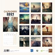Calendrier mural 2021 Lonut Caras 12 illustrations 30X30 cm