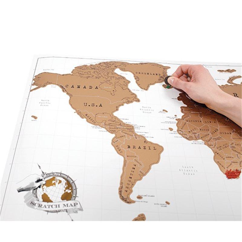 carte du monde gratter planisph re scratch map de l. Black Bedroom Furniture Sets. Home Design Ideas