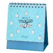 Organisateur Semainier sur Socle 128p avec stickers 15x18cm Mr Wonderful