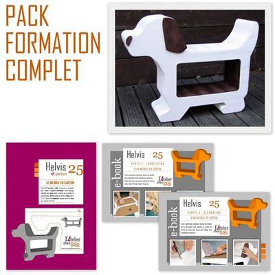pack formation telechargeable meuble en carton chien helvis de l 39 atelier chez soi. Black Bedroom Furniture Sets. Home Design Ideas