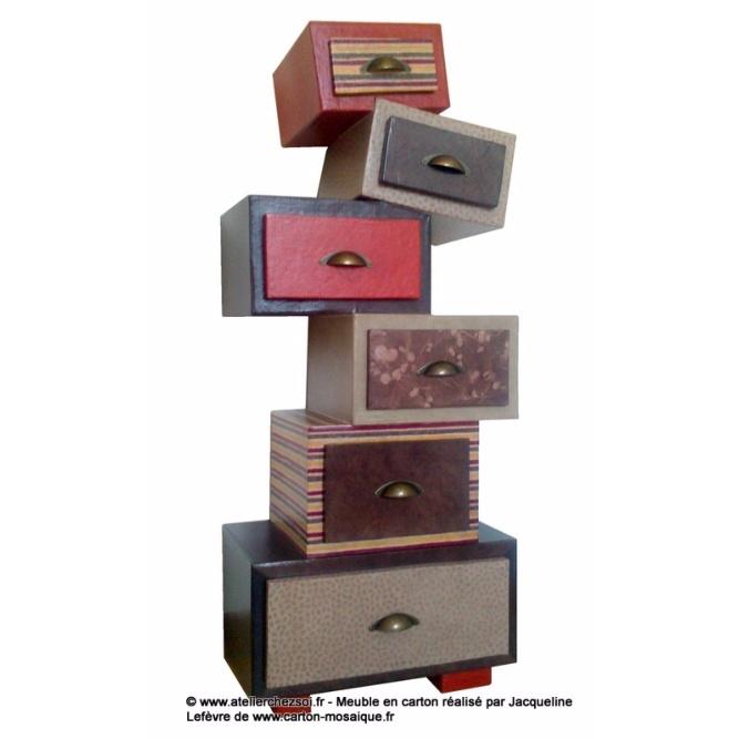 l 39 tag re en carton hekilibre de jacqueline galerie. Black Bedroom Furniture Sets. Home Design Ideas