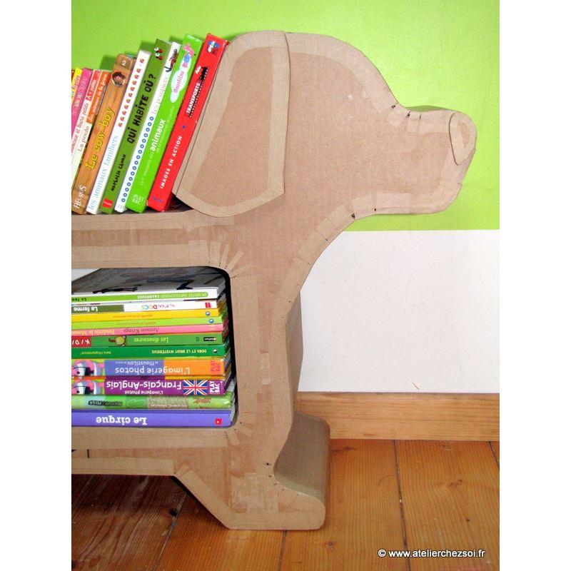 Ebook chien en carton helvis partie 1 fabrication de l for Livre meuble en carton