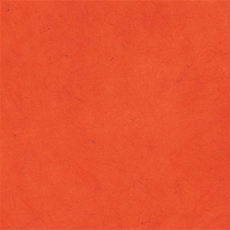 Papier Nepalais Uni Couleur Orange Vif 50x75 Cm De L Atelier Chez Soi