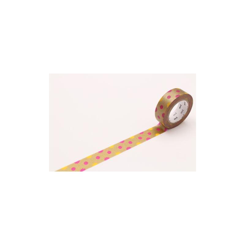 Masking tape motif soleil or rouleau 15mm x 10m de l - Rouleau adhesif decoratif pour meuble ...