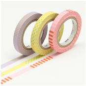 Masking Tape Slim Deco A - Set 3 Rouleaux 6mm x 10m