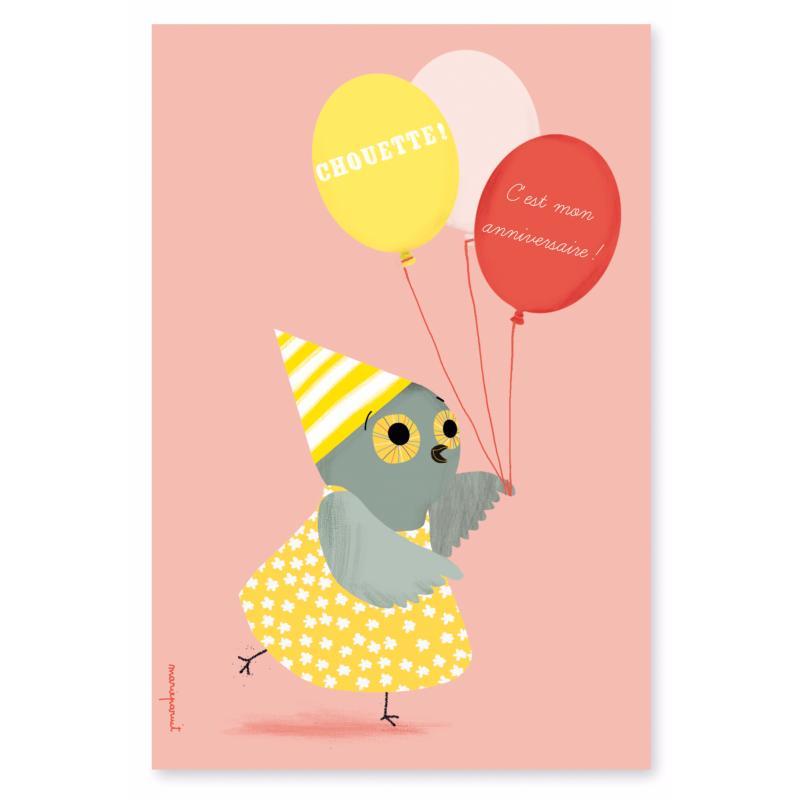 Lot 8 Cartes D Invitation Anniversaire Petite Chouette Jolie Carte L Atelier Chez Soi