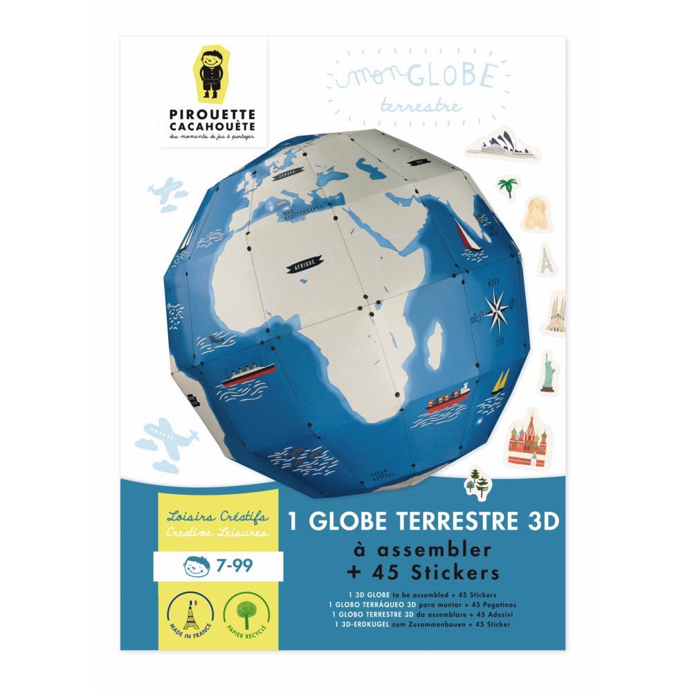 Globe terrestre construire kit cr atif enfant stickers - Globe terrestre en carton ...