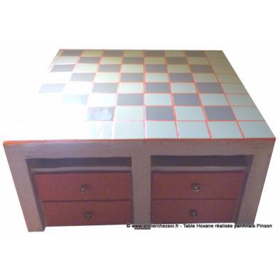 table basse en carton hoxane par ana s cot tiroirs d coration papier et carrelage. Black Bedroom Furniture Sets. Home Design Ideas