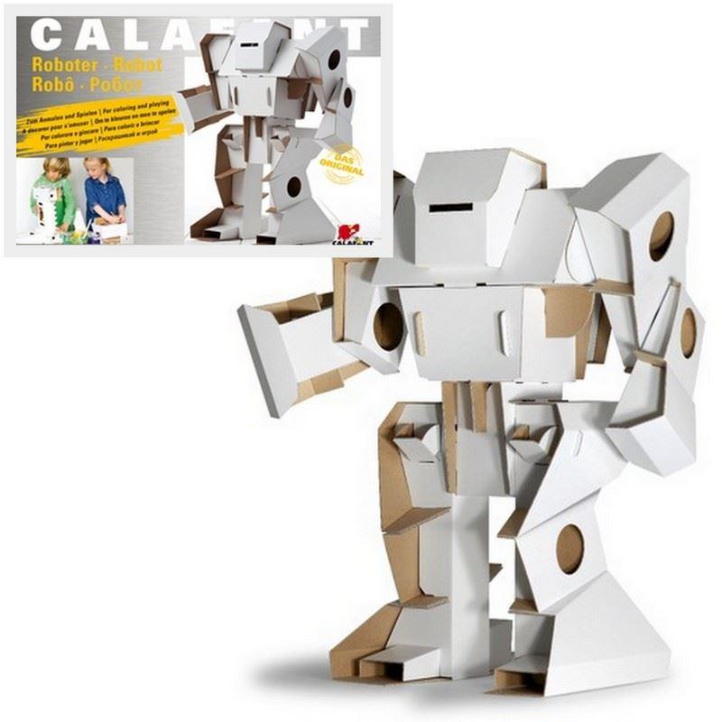 robot en carton d corer calafant de l 39 atelier chez soi. Black Bedroom Furniture Sets. Home Design Ideas
