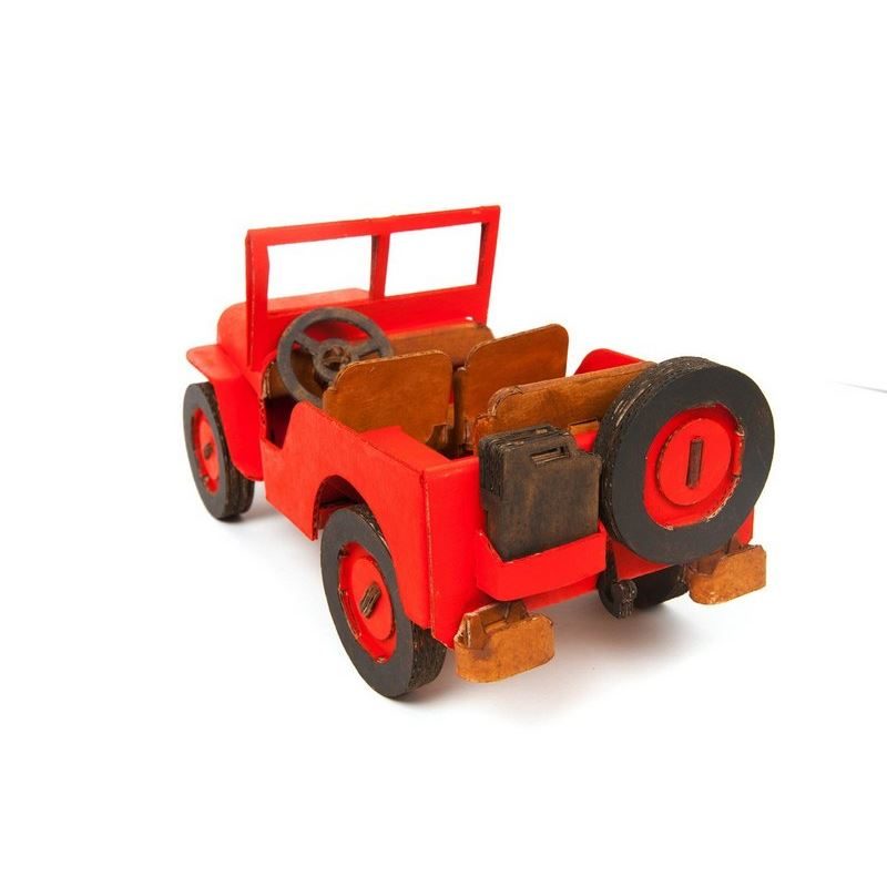 voiture jeep willy carton construire maquette leolandia. Black Bedroom Furniture Sets. Home Design Ideas