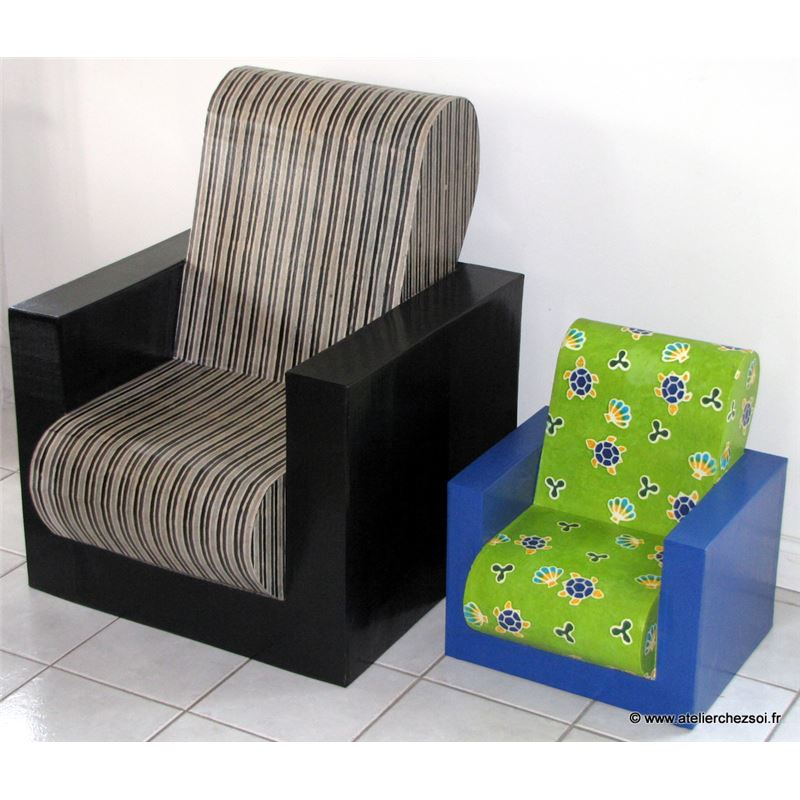 patron de meuble en carton fauteuil hadam enfant de l. Black Bedroom Furniture Sets. Home Design Ideas