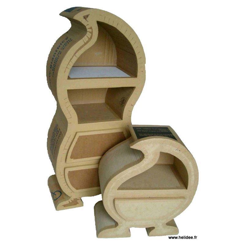 patron de meuble en carton chevet hoscar de l 39 atelier chez soi. Black Bedroom Furniture Sets. Home Design Ideas