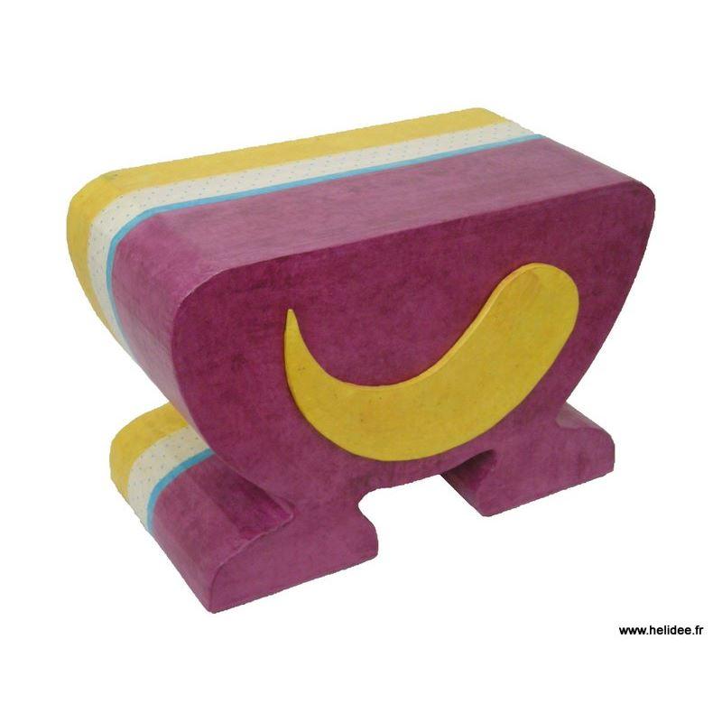 Patron de meuble en carton tabouret enfant hoscar de l - Fabriquer meuble en carton ...