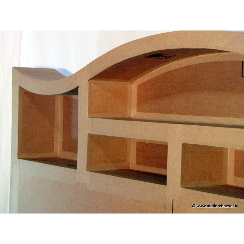 patron meuble en carton t te de lit halba 2 personnes de l 39 atelier chez soi. Black Bedroom Furniture Sets. Home Design Ideas
