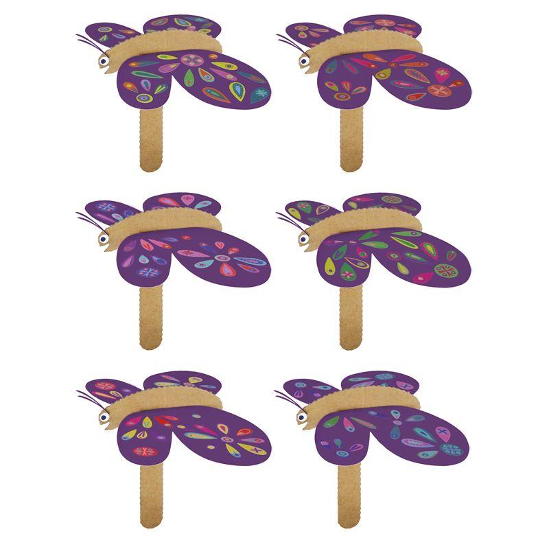 kit cr atif 6 papillons fabriquer avec stickers. Black Bedroom Furniture Sets. Home Design Ideas