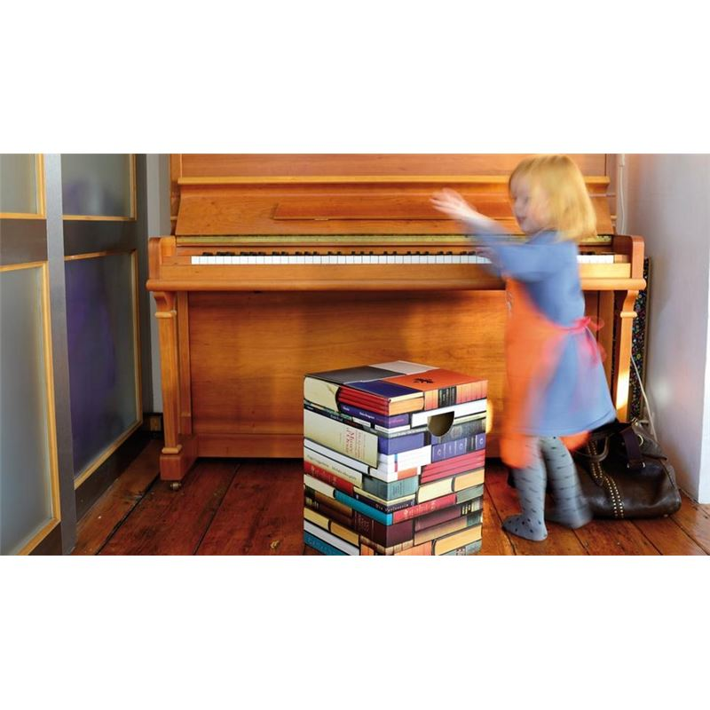 tabouret en carton biblioth que remember meuble en kit. Black Bedroom Furniture Sets. Home Design Ideas