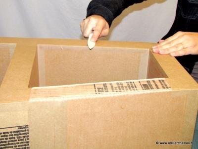 Kraft Gomme Large Pour De Jolies Finitions Meubles En Carton