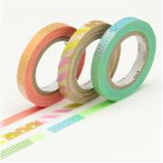 Masking Tape Slim Deco E - Set 3 Rouleaux 6mm x 10m