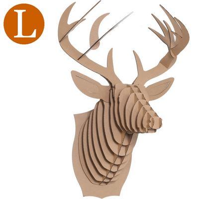 troph e t te de cerf en carton brun grand de l 39 atelier. Black Bedroom Furniture Sets. Home Design Ideas
