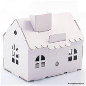Maison Tirelire En Carton Blanc à Construire 15cm Maquette Leolandia