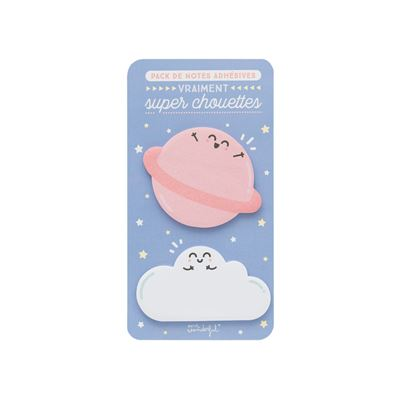 Pack petites notes adhésives vraiment super chouettes Mr Wonderful