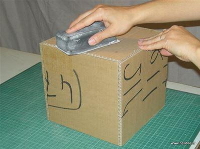 Bo te en carton couvercle diy fiche cr ative for Comment faire une boite en carton creteil