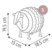 kit mouton en carton rose construire taille s cocorikraft. Black Bedroom Furniture Sets. Home Design Ideas