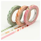 Masking Tape Slim Deco D - Set 3 Rouleaux 6mm x 10m