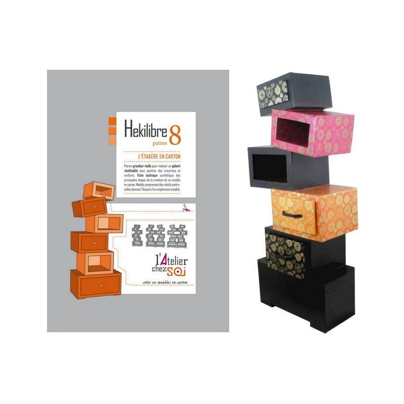 patron de meuble en carton etag re h kilibre de l 39 atelier. Black Bedroom Furniture Sets. Home Design Ideas