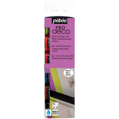 Set Peinture Décorative Mate Multi-supports 6x20 ml Pébéo Déco