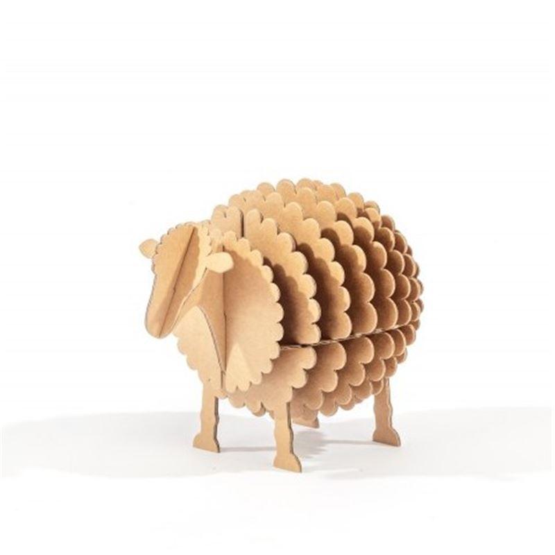 mini mouton en carton kraft taille xs cocorikraft de l 39 atelier chez soi. Black Bedroom Furniture Sets. Home Design Ideas