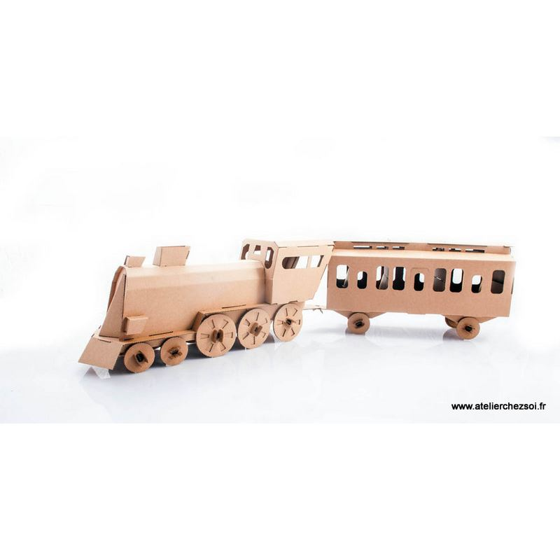 locomotive en carton construire maquette leolandia. Black Bedroom Furniture Sets. Home Design Ideas
