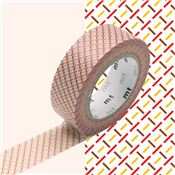 Masking Tape motif Tirets Rouge Rouleau 15mm x 10m